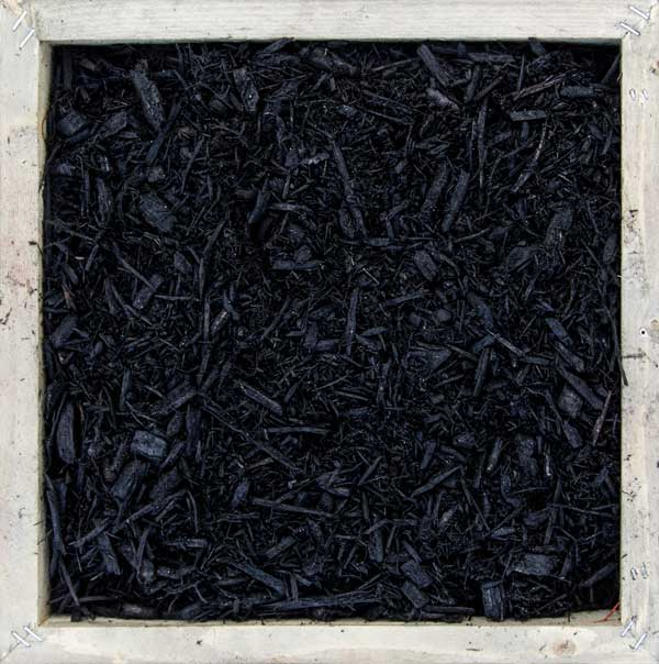 Dark Black Colorized Landscaping Mulch
