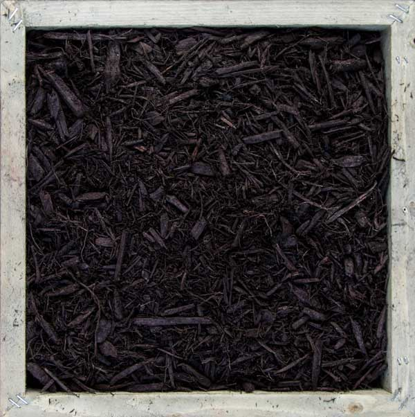 Dark Brown double-shredded hardwood Mulch