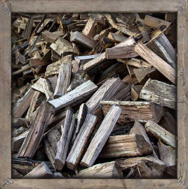 An image of bulk firewood